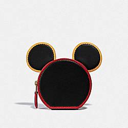 COACH C2535 Disney Mickey Mouse X Keith Haring Coin Case B4/BLACK