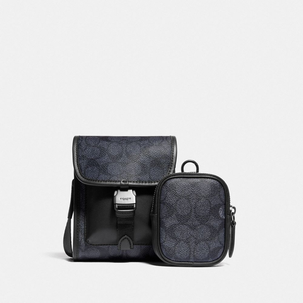 CHARTER NORTH/SOUTH CROSSBODY WITH HYBRID POUCH IN SIGNATURE CANVAS