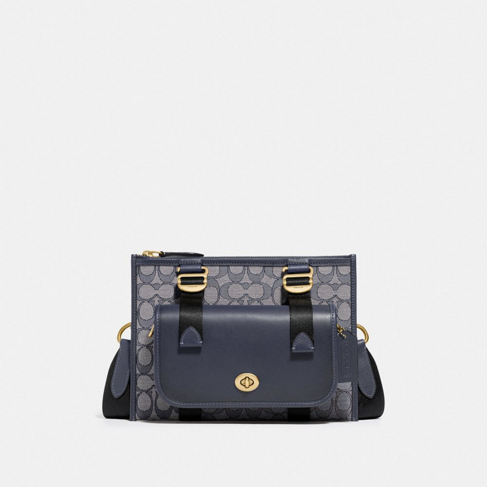 MULTIFUNCTION CROSSBODY WITH DINKY IN SIGNATURE JACQUARD