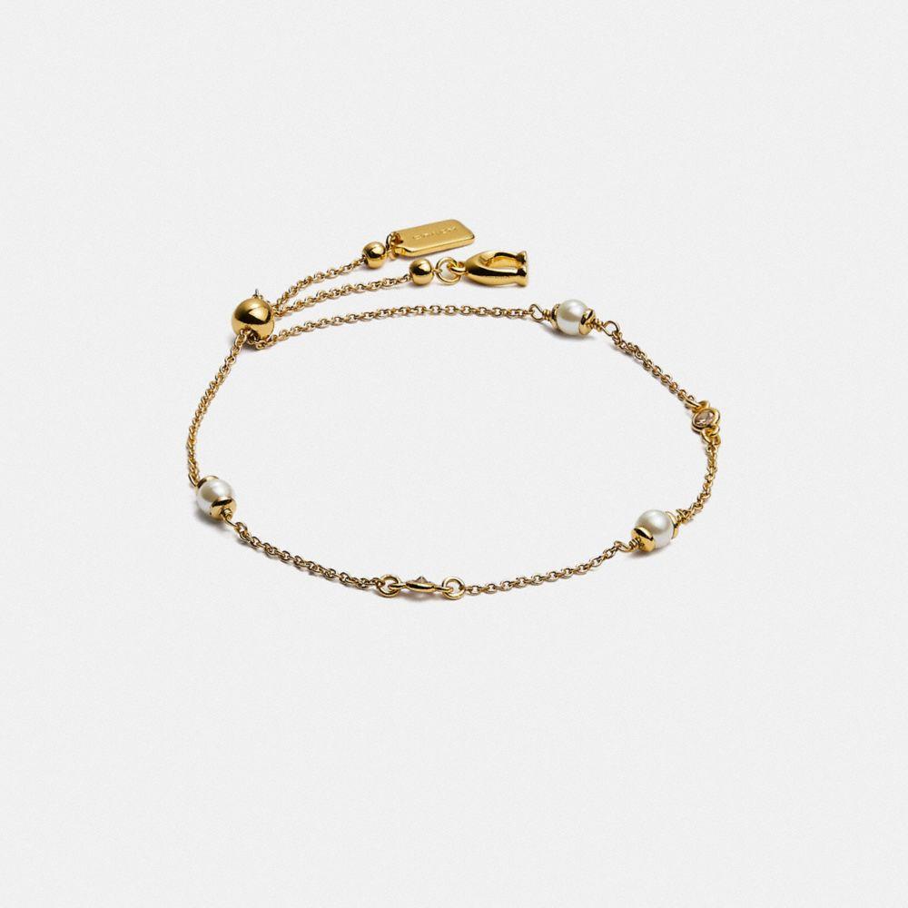 經典水晶珍珠滑動式手鍊