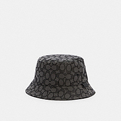 SIGNATURE BUCKET HAT - BLACK SIGNATURE - COACH C2714