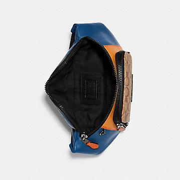 コーチ公式アウトレット | トラック ベルト バッグ カラーブロック シグネチャー キャンバス | ミニバッグ/ボディバッグ/ベルトバッグ