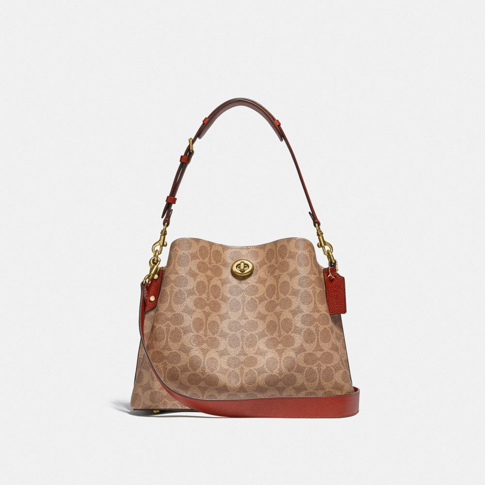 WILLOW SHOULDER BAG IN SIGNATURE CANVAS
