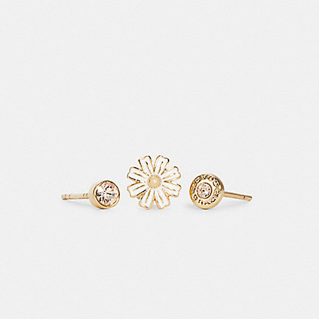 COACH C2754 DAISY STUD EARRINGS SET GD/WHITE