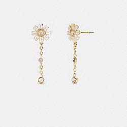 COACH C2757 Daisy Drop Earrings GD/WHITE
