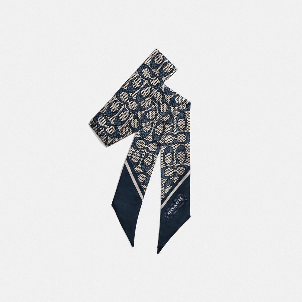 復古經典 SIGNATURE 印花窄版圍巾