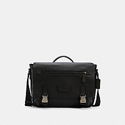 COACH C2793 - TRACK MESSENGER IN SIGNATURE CANVAS QB/CHARCOAL/BLACK