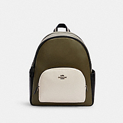 COURT BACKPACK IN COLORBLOCK - C2797 - QB/KELP MUTLI