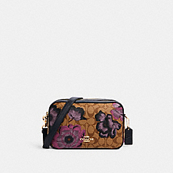 JES CROSSBODY IN SIGNATURE CANVAS WITH KAFFE FASSETT PRINT - C2799 - IM/KHAKI MULTI