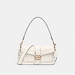 GEORGIE SHOULDER BAG WITH QUILTING - C2801 - IM/CHALK