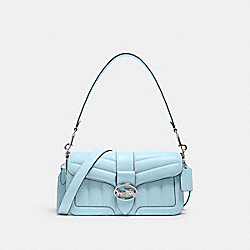 GEORGIE SHOULDER BAG WITH QUILTING - C2801 - SV/WATERFALL