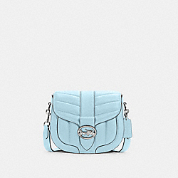 COACH C2803 - GEORGIE SADDLE BAG WITH QUILTING SV/WATERFALL