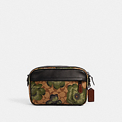 GRAHAM CROSSBODY IN SIGNATURE CANVAS WITH KAFFE FASSETT PRINT - C2813 - QB/KHAKI GREEN BLACK MULTI