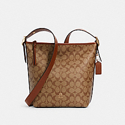 COACH C2819 - VAL DUFFLE IN SIGNATURE CANVAS IM/KHAKI REDWOOD