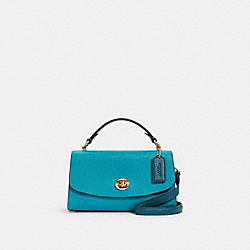 COACH C2821 - TILLY SATCHEL 23 IN COLORBLOCK IM/TEAL/TEAL INK MULTI