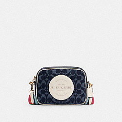 COACH C2822 - DEMPSEY CAMERA BAG IN SIGNATURE JACQUARD WITH PATCH IM/DENIM MULTI