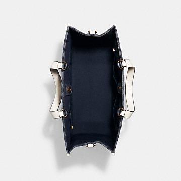 コーチ公式アウトレット | デンプシー トート 40 シグネチャー ジャカード ウィズ パッチ | トートバッグ