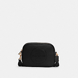 DEMPSEY CAMERA BAG WITH PATCH - IM/BLACK - COACH C2828