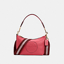 DEMPSEY SHOULDER BAG WITH PATCH - IM/FUCHSIA - COACH C2829