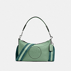 COACH C2829 Dempsey Shoulder Bag With Patch SV/WASHED GREEN