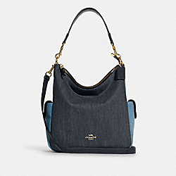 PENNIE SHOULDER BAG - C2830 - IM/DENIM MULTI