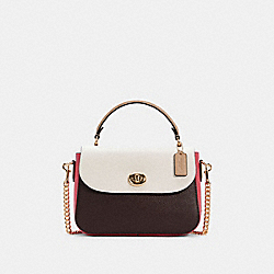 MARLIE TOP HANDLE SATCHEL IN COLORBLOCK - IM/CHALK MULTI - COACH C2836