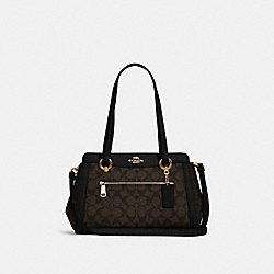 KAILEY CARRYALL IN SIGNATURE CANVAS - IM/BROWN BLACK - COACH C2851