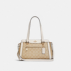 KAILEY CARRYALL IN SIGNATURE CANVAS - IM/LIGHT KHAKI CHALK - COACH C2851