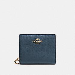 COACH C2862 Snap Wallet IM/DARK DENIM