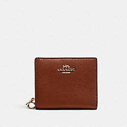 COACH C2862 - SNAP WALLET IM/REDWOOD