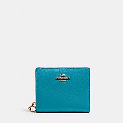 COACH C2862 Snap Wallet IM/TEAL