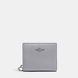COACH C2862 Snap Wallet SV/GRANITE