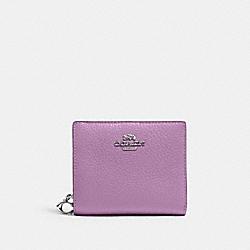 COACH C2862 Snap Wallet SV/VIOLET ORCHID