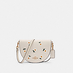 ELLEN CROSSBODY WITH DAISY EMBROIDERY - C2863 - IM/CHALK MULTI