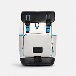 TRACK BACKPACK IN COLORBLOCK - C2864 - QB/CHALK DOVE GREY MULTI