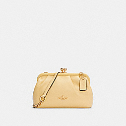 NORA KISSLOCK CROSSBODY - IM/VANILLA CREAM - COACH C2875