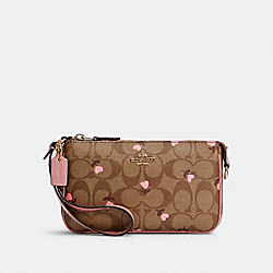 COACH C2898 - NOLITA 19 IN SIGNATURE CANVAS WITH HEART FLORAL PRINT IM/KHAKI RED MULTI