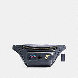 HERITAGE BELT BAG WITH 80'S PINS - C2912 - QB/MIDNIGHT
