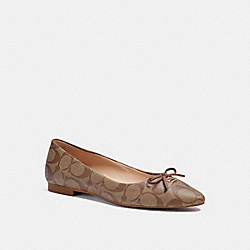 ANNABEL BALLET - KHAKI/SADDLE - COACH C2913