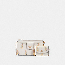 POPPY CROSSBODY WITH LIPSTICK PRINT - IM/CHALK MULTI - COACH C2916