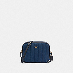 MINI CAMERA BAG WITH QUILTING - IM/DENIM MULTI - COACH C2937