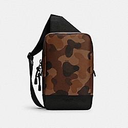 TURNER PACK WITH CAMO PRINT - C2951 - QB/SADDLE BLACK