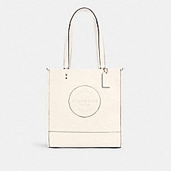 DEMPSEY TOTE WITH PATCH - IM/CHALK - COACH C3078