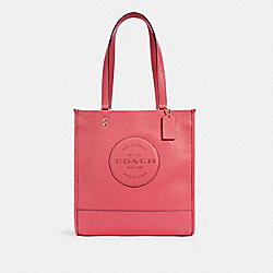 DEMPSEY TOTE WITH PATCH - C3078 - IM/FUCHSIA