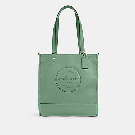 COACH DEMPSEY TOTE WITH PATCH - SV/WASHED GREEN - C3078