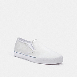 COACH C3092 Citysole Skate Slip On Sneaker CHALK OPTIC WHITE