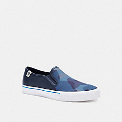 COACH C3094 Citysole Skate Slip On Sneaker With Camo Print MIDNIGHT NAVY