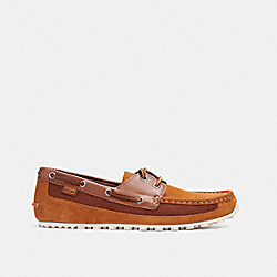 COACH C3096 Boat Shoe GOLDEN BROWN