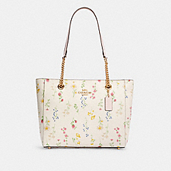 MARLIE TOTE WITH SPACED WILDFLOWER PRINT - IM/CHALK MULTI - COACH C3099