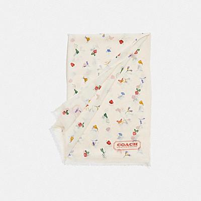 ガーデン プリント シルク オブロング スカーフ